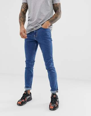 New Look slim jeans in mid blue wash