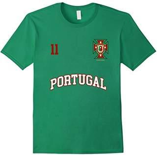 Portugal Soccer Team Shirt Number 11 (+BACK) Sports Tee Flag