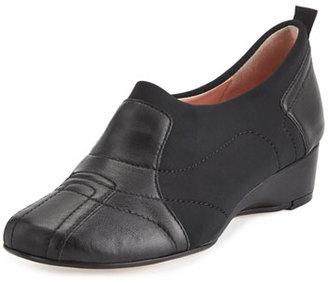 Taryn Rose Kuss Demi-Wedge Comfort Pump, Black $239 thestylecure.com