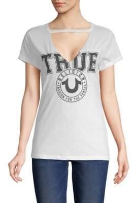 True Religion Crest Cutout Cotton Tee