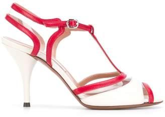 L'Autre Chose t-bar paneled sandal