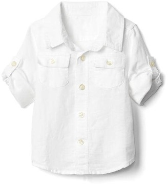 Linen convertible pocket shirt $26.95 thestylecure.com