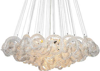 Viz Glass Infinity Chandelier - Clear