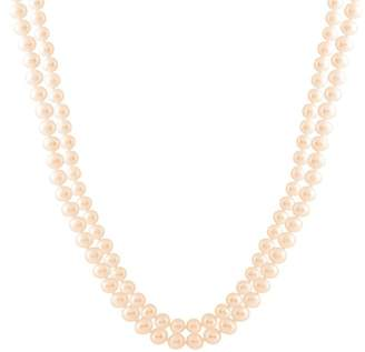 Splendid Pearls 7-8mm Cultured Freshwater Natural Pearl Endless Necklace
