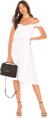 Marled x Olivia Culpo Off Shoulder Tie Front Shirt Dress