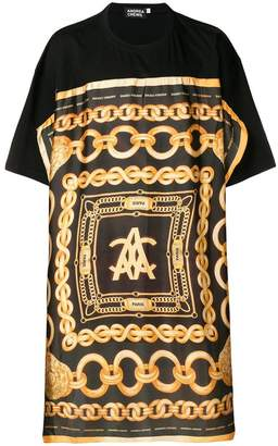Andrea Crews chain patterned long T-shirt