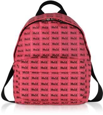 McQ Neon Pink Metal Repeat Logo Backpack
