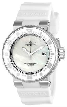Invicta Women's 'Pro Diver' Quartz Stainless Steel and Silicone Diving Watch