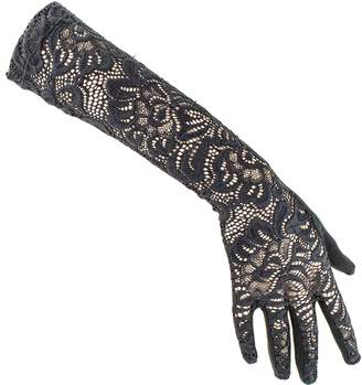 Black Long Fine Lace Gloves