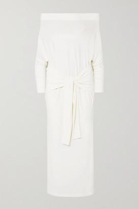 Norma Kamali Off-the-shoulder Stretch-jersey Maxi Dress - Ivory