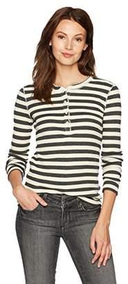 Stateside Women's Stripe Thermal Longsleeve Henley