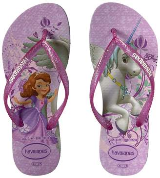 Havaianas Slim Princess Sofia Flip Flops Girls Shoes