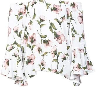 Dorothy Perkins Womens *Izabel London White Floral Print Bardot Top
