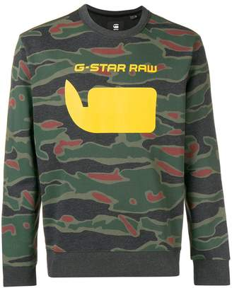 G Star Research logo jersey sweater