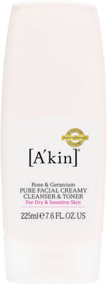 Akin A'kin A'Kin Rose & Geranium Pure Creamy Cleanser & Toner In One (225ml)