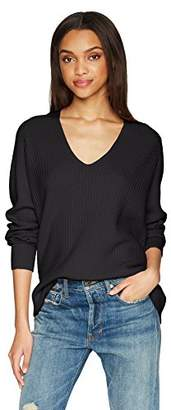 Vince Women's Raglan Rib Double V-Neck