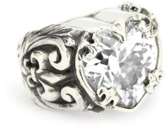 King Baby Studio Cubic-Zirconia Heart Ring