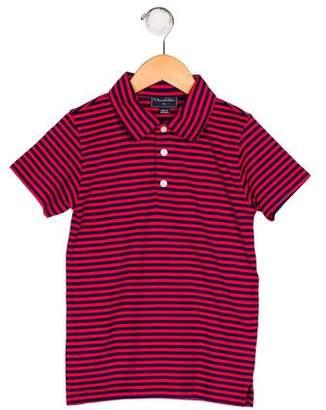 Oscar de la Renta Stripe Collared Shirt