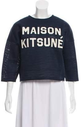 MAISON KITSUNÉ Graphic Mesh Top