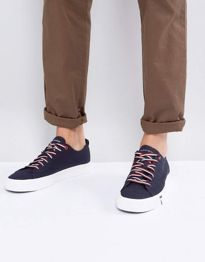Tommy Hilfiger Dino Canvas Sneakers In Navy