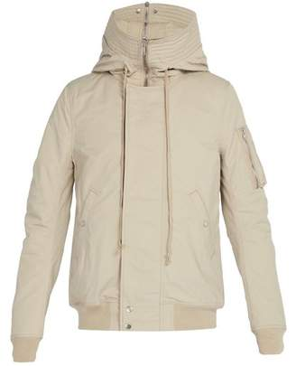 Rick Owens Hooded Shell Bomber Jacket - Mens - Grey