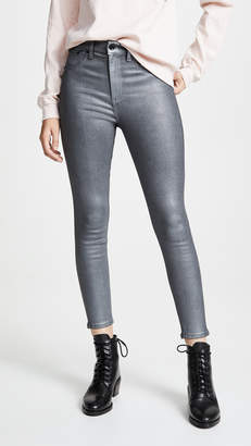 Rag & Bone High Rise Coated Ankle Skinny Jeans