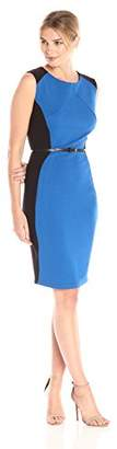 Lark & Ro Women's Sleeveless Sheath Dress with Belt Dress