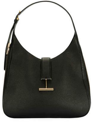 Tom Ford Tara Grain Lux Calf Shoulder Hobo Bag
