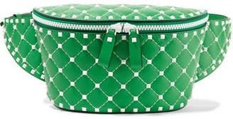 Valentino Garavani The Rockstud Quilted Leather Belt Bag - Green