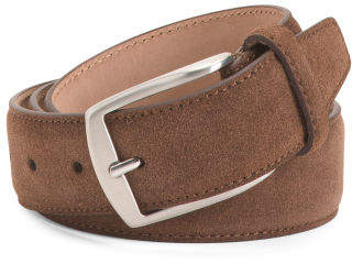 Men's Made In Italy Suede With Nubuck Belt