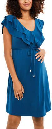 Jessica Simpson Maternity Ruffled A-Line Dress