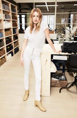 J Brand Natasha Sky-High Super Skinny in Blanc