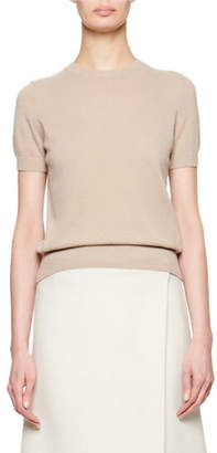 The Row Tati Cashmere/Silk Short-Sleeve Top