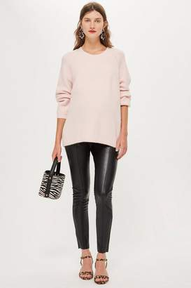 Topshop MATERNITY Leather Look Trousers