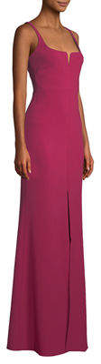 LIKELY Constance Sleeveless Center-Slit Gown