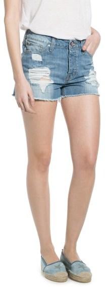 MANGO Outlet Light Denim Shorts