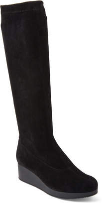 Robert Clergerie Black Nolon Suede Knee-High Boots