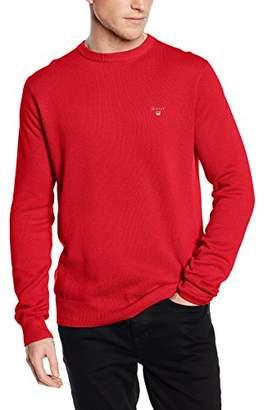 Gant Men's Cotton Pique Crewneck Sweater