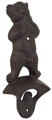 Toscano Desing Design Growling Grizzly Forest Bear Cast Iron Wall Mount Bottle Opener