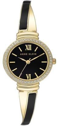 Anne Klein Women's Analog Quartz Two-Tone Bangle Bracelet Watch, 26mm