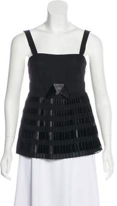 RED Valentino Pleated Sleeveless Blouse