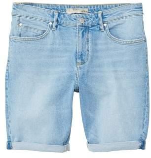 Mango man MANGO MAN Light wash denim bermuda shorts