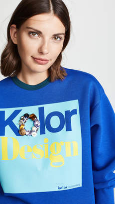 Kolor Design Crew Neck Sweatshirt