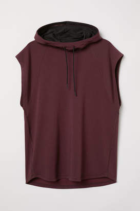 H&M Sleeveless Hooded Shirt - Red