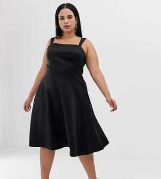 Asos Design Curve Square Neck Prom Dress