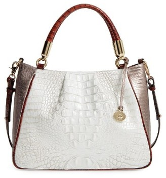 Brahmin Ruby Croc Embossed Leather Satchel - Ivory $365 thestylecure.com
