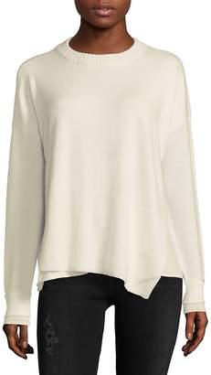 Derek Lam 10 Crosby Women's Asymmetric Wool-Blend Crewneck Sweater