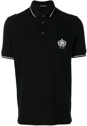 Dolce & Gabbana embroidered crown polo shirt