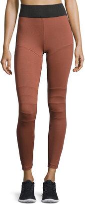 Koral Activewear High-Rise Moto Leggings, Medium Pink $99 thestylecure.com
