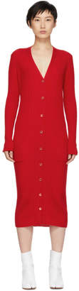 Maison Margiela Red Ribbed Dress